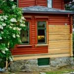 Berg&Wien Massivtre: Restaurering av tømmervegg, bolighus, Nordstrand, Oslo